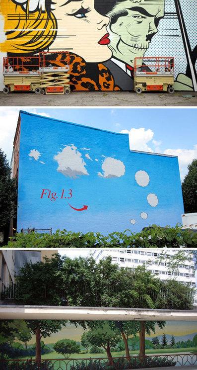 Urban Landscapes Transformed: 23 Stunning Urban Murals   WebUrbanist   urban designs   Scoop.it