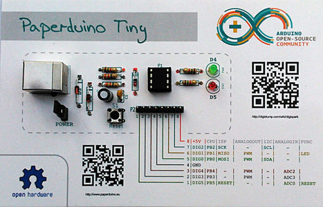 También de papel!: Building an Arduino out of Paper | Big and Open Data, FabLab, Internet of things | Scoop.it