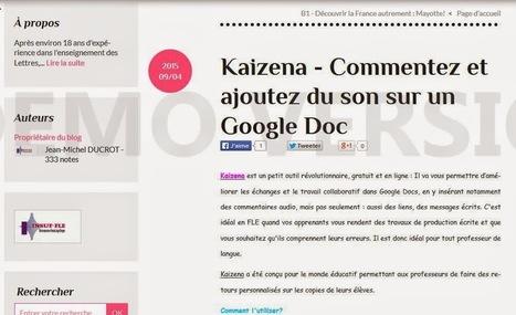 ENSEIGNANT WEB 2.0 et LANGUES: Kaizena - Commentez et ajoutez du son sur un Google Doc - Insuf-FLE...   Ressources informatiques   Scoop.it