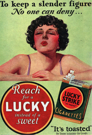 "The Golden Age of Malarkey American Tobacco ""Reach for a Lucky Instead of a Sweet 