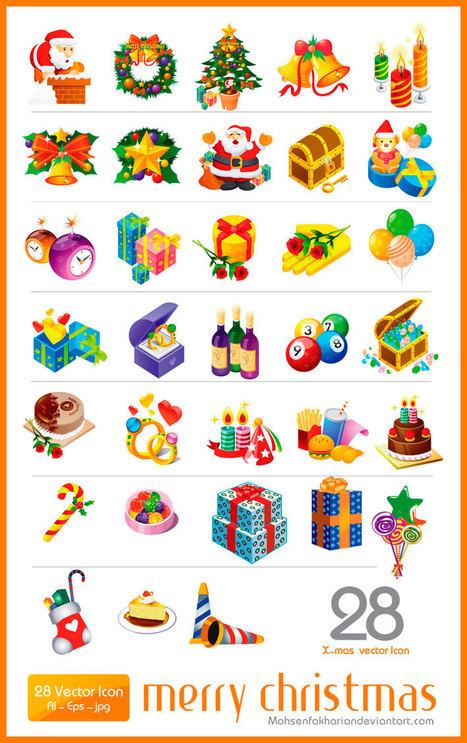 Colección de Vectores para Navidad en Formato Psd « Full Tutoriales | Recursos | Scoop.it
