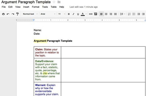Common Core: Teaching Argument & Informational Paragraph Writing | Teaching Strategies | Scoop.it