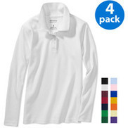 George - Girls' Long-Sleeve Polo Shirts, 4-Pack Value Bundle | +++ Special Sale | Scoop.it
