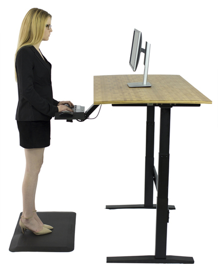 Rise Up - electric adjustable height standing desk   Adjustable Ergonomic Stand Up Desk   Scoop.it