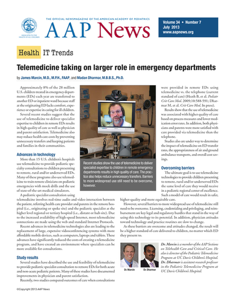 Telemedicine taking on larger role in emergency departments | eHealth Web Services | Scoop.it