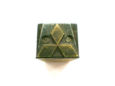 Three Diamond Emblem Vintage Japanese Metal Stamp Wood Stamp No.2 Mitsubishi Mark   Etsy Today   Scoop.it