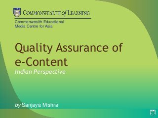 Quality assurance of e-content- Indian Perspectives   Quality assurance of eLearning   Scoop.it