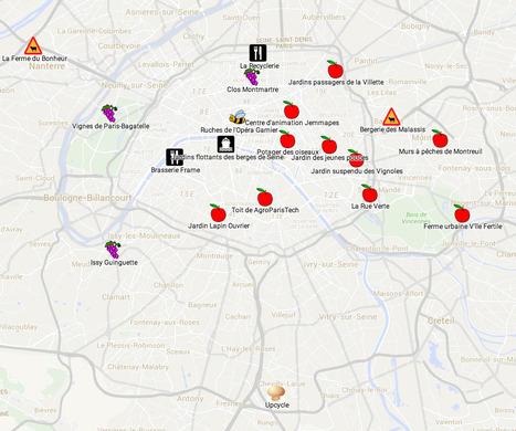 Paris se mange ! » : carte de 20 lieux incontournables de l'agriculture urbaine #dgdg | Société 2.0 | Scoop.it
