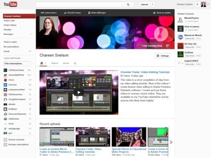 Tube Teaching: How to Create a YouTube Channel | edanne | Scoop.it
