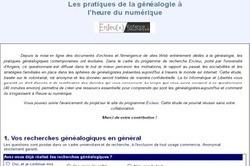 Numérique et généalogie : répondez à l'enquête !   Rhit Genealogie   Scoop.it