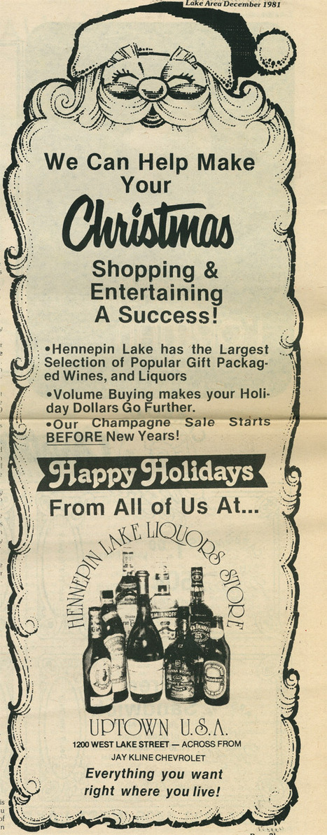 Ads from the Past: Hennepin Lake Liquors - OurUptown Minneapolis ... | Minneapolis Real Estate | Scoop.it