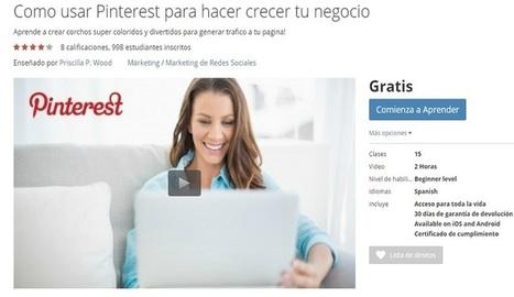 Curso gratuito para aprender a utilizar Pinterest en tu negocio - Nerdilandia | Educacion, ecologia y TIC | Scoop.it