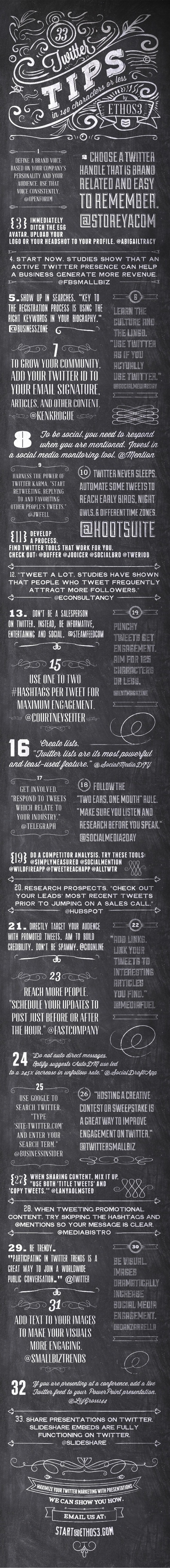 33 Twitter Tips, in 140 characters or less | Digital Matters | Scoop.it
