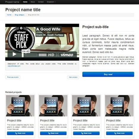 Responsive video The standard bootstrap page... | Bootstraptor FREE KIT update | Scoop.it