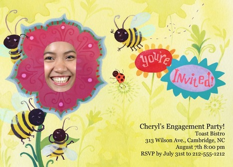 You're invited to see a flower so sweet, the bees can't resist! | kids birthday invites | Scoop.it
