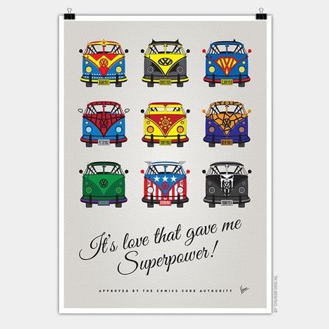volkswagen T1 superhero posters fashion VW vans for comic characters | ipad | Scoop.it