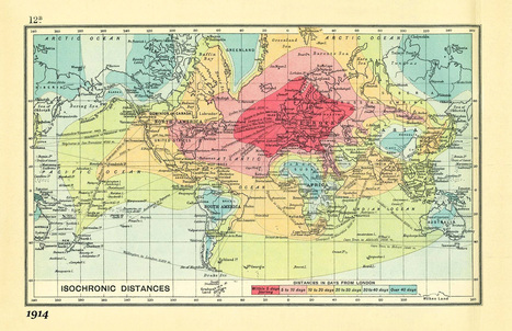 This animation shows the comparison of travel time today and 100 years ago - Geoawesomeness | Nuevas Geografías | Scoop.it