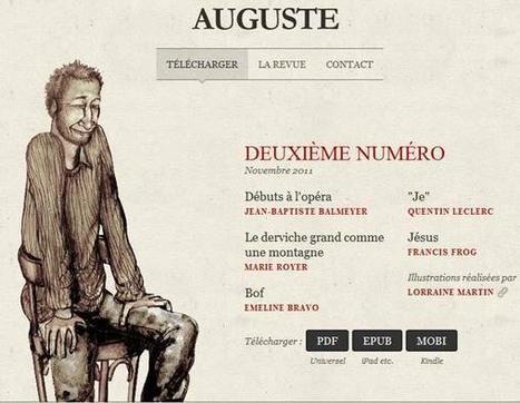 Auguste : la revue littéraire gratuite à lire sur votre reader | ACTU DES EBOOKS | Scoop.it