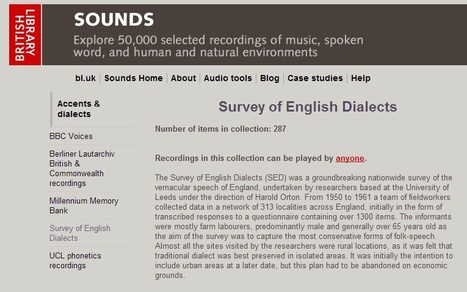 Survey of English Dialects | Language, Communication and Technology | Scoop.it