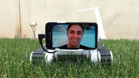 Ingenious dad builds telepresence robot to hang out with his kids | Robotics and AI | Scoop.it
