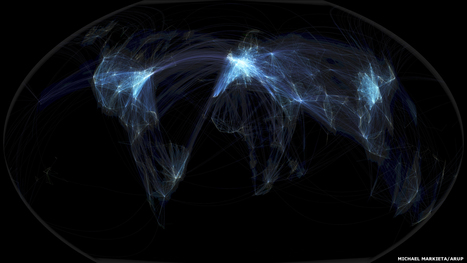 In pictures: Global flight paths | Masego's GIS Corner | Scoop.it