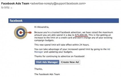 Wonder what a $75,000 daily credit line on Facebook looks like? | MarketingHits | Scoop.it