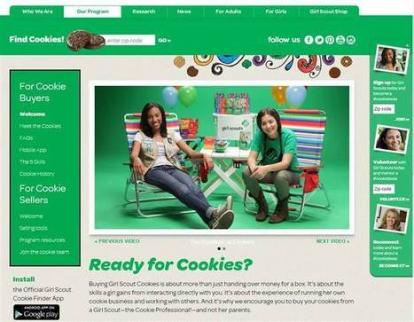 Thin Mints go digital! Girl Scouts bring cookie orders online   Today's Show Prep   Scoop.it
