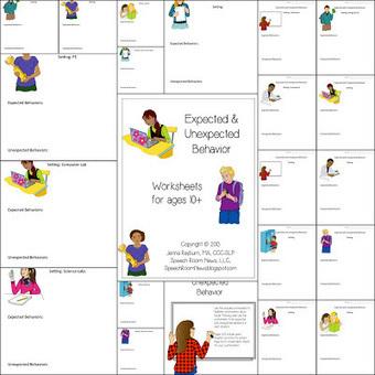 Expected & Unexpected Behavior Worksheets | Speech-Language Pathology | Scoop.it