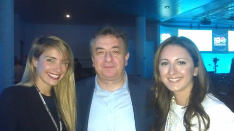 Governor Arnaoutakis w/ Ms Agapi Sbokou of Sbokos Hotels & Ms Isavella Pataki from Travel Channel | IncredibleCrete | Scoop.it
