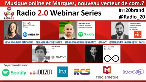 Webinar Radio 2.0 #6 Musique et Marques, en Livestream le 14 oct à 11h | Radio 2.0 (En & Fr) | Scoop.it