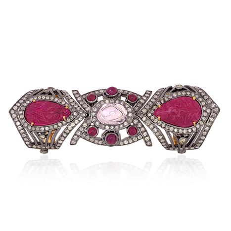 Carved Ruby Diamond Knuckle Ring | Gemstone Jewelry | GemcoDesigns | Pave Diamond Palm Bracelets | Diamond Jewelry | GemcoDesigns | Scoop.it