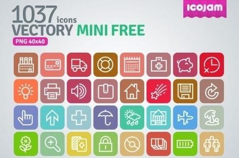 Vectory Mini Free, pack gratuito con más de mil iconos variados | Tips&Tricks | Scoop.it