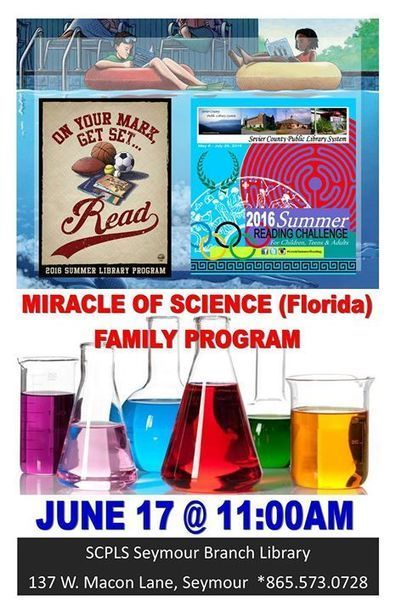 Family Summer Reading Challenge: Miracle of Science - 17/06/2016 | Tennessee Libraries | Scoop.it