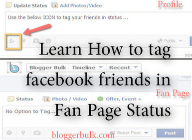 How to tag Facebook Friends in Facebook Fan Page Status Updates? | Blogger Wordpress Tricks | Scoop.it