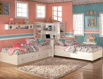 10 ideas para decorar un dormitorio juvenil compartido, con dos camas. | Mil ideas de Decoración | Todo sobre muebles,mobiliario y el mueble. | Scoop.it