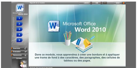 Online Formapro présente un module pour travailler ses techniques sur le logiciel Word. | Time to Learn | Scoop.it