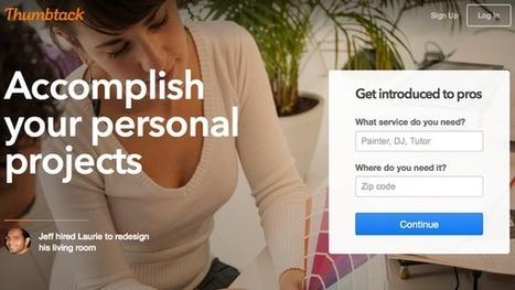 Thumbtack, an Online Market for Services, Raises $100 Million   Web Marketing   Scoop.it