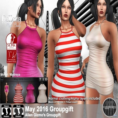 Mini Dress With Textures HUD May 2016 Group Gift by Alien Gizmo | Teleport Hub - Second Life Freebies | Second Life Freebies | Scoop.it