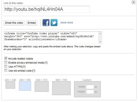 How To Add a YouTube Video to a Web Site | The Internal Communications ToolBox | Scoop.it