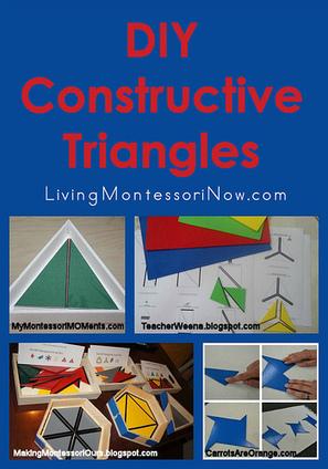 Montessori Monday – DIY Constructive Triangles   Kindergarten   Scoop.it