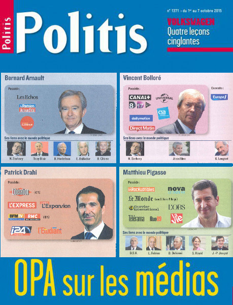 Bolloré, Drahi, Pigasse, Arnault: OPA sur les médias | DocPresseESJ | Scoop.it