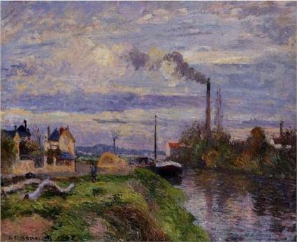 Quai du Pothuis, at Pontoise - Camille Pissarro, 1876 | Impressionnisme | Scoop.it