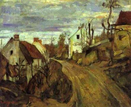 Cézanne Route de village, Auvers (1872) | Impressionnisme | Scoop.it