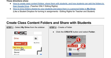Teacher's Guide to Sharing Google Drive Folders in the Classroom | Google in Libraries and Education | Scoop.it