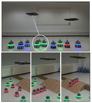 [IROS 2012] AR Drone Helps Swarm of Self-Assembling Robots to Overcome Obstacles - IEEE Spectrum | scatol8® | Scoop.it