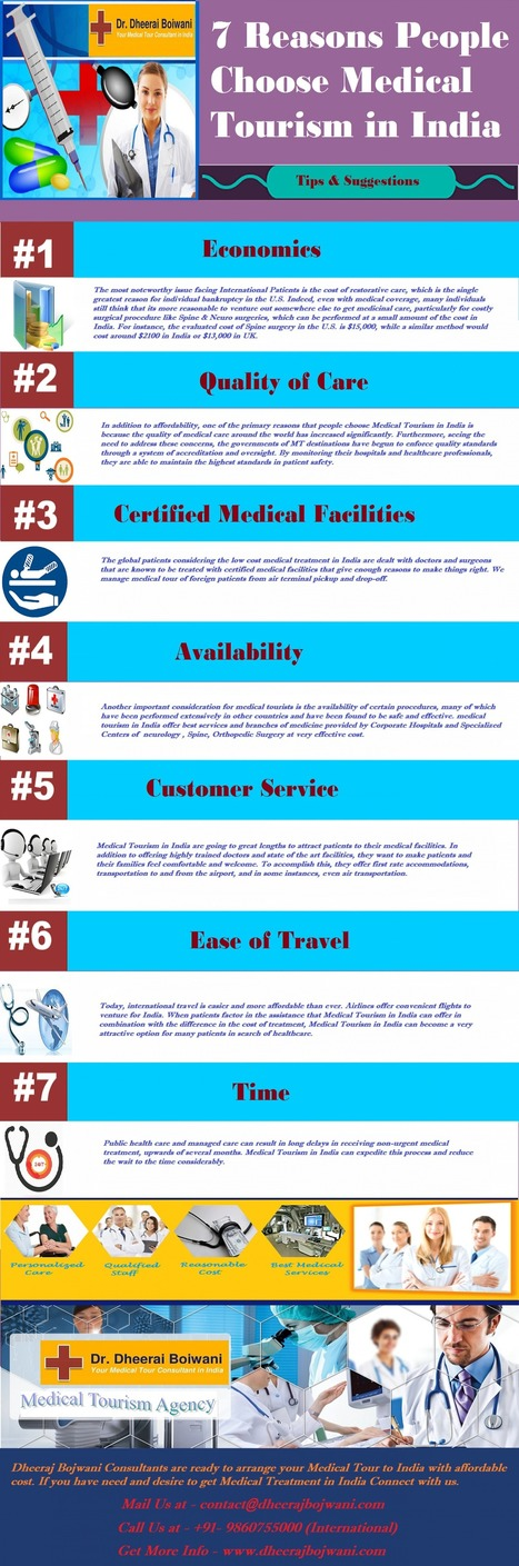 Top 7 Reasons People Choose Medical Tourism in India with Dheeraj Bojwani Consultants | health and medicine | Scoop.it