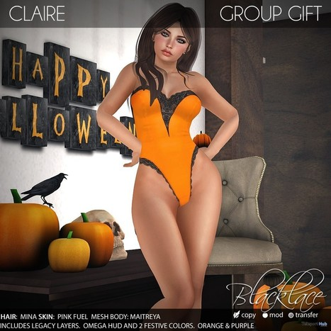 Claire Bodysuit Group Gift by Blacklace   Secondlife freebies   Scoop.it