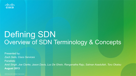Get Started with Software Defined Networking | Cisco Learning | Scoop.it