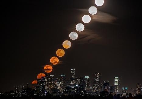 Gorgeous Collage of 11 Moons Rising Behind Downtown LA - My Modern Metropolis | Le It e Amo ✪ | Scoop.it