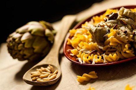 Fusilli di pasta fresca carciofi ricotta olive pinoli - PJ Magazine | Olio Extravergine Italiano Costa | Scoop.it